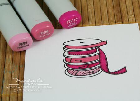 Coloring ribbon spools
