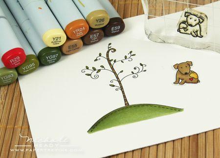 Coloring tree & dog