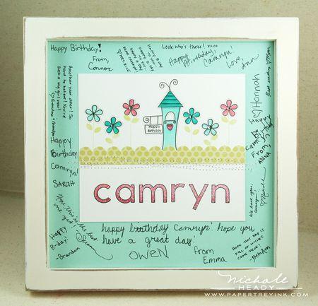 Camryn guest book frame