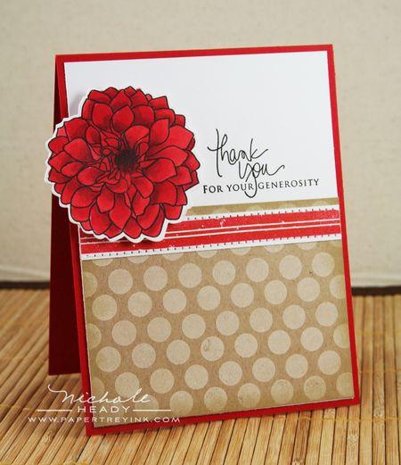 Red Dahlia card