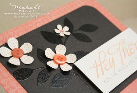 Polka dot flowers closeup