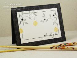 Thank you lantern card