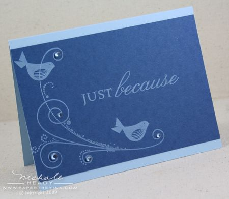 Just Because Bird card