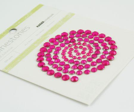 Raspberry rhinestones
