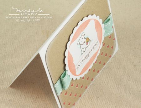 Upper view dog card