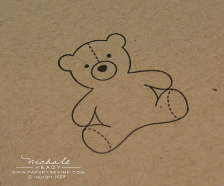 Stamped teddy bear