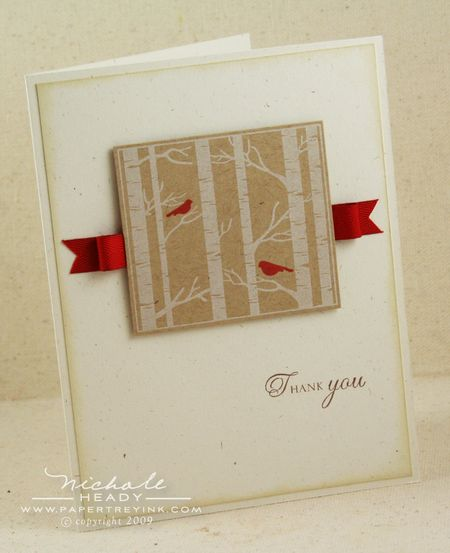 Cardinals & Birches card