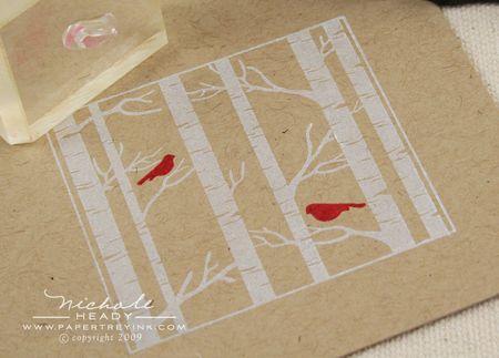 Stamping red bird