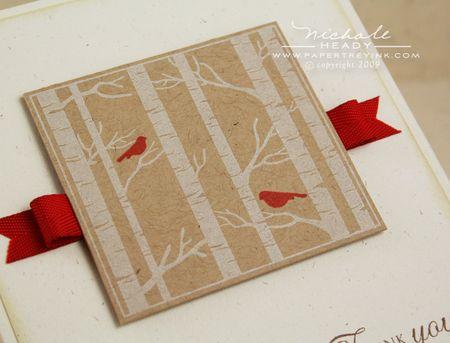 Cardinals & ribbon closeup