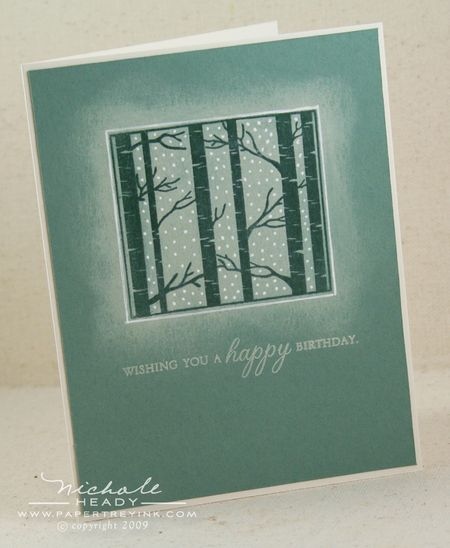Snowy Trees Card