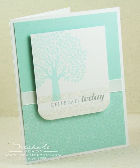 Celebrate Today Glitter card