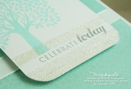 Celebrate & glitter closeup