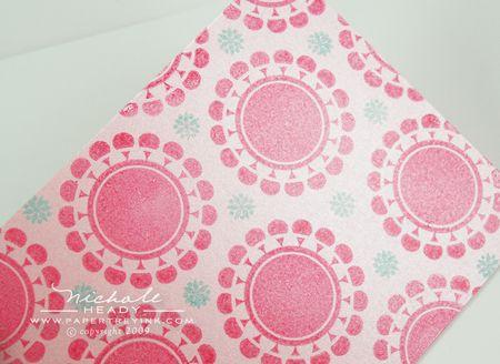 Finished floral pattern