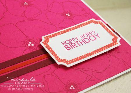 Birthday frame closeup