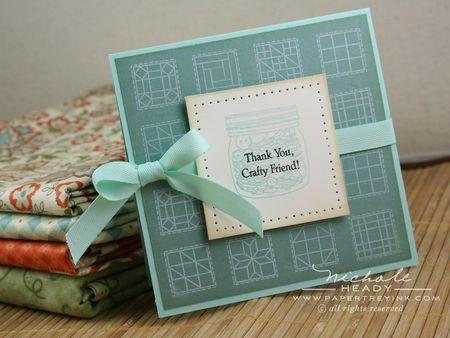 Crafty Friend Jar & Fabric