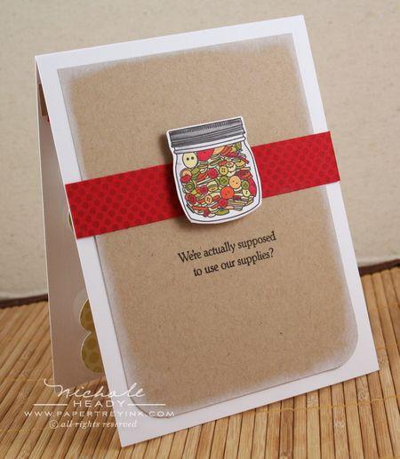 Button Jar card