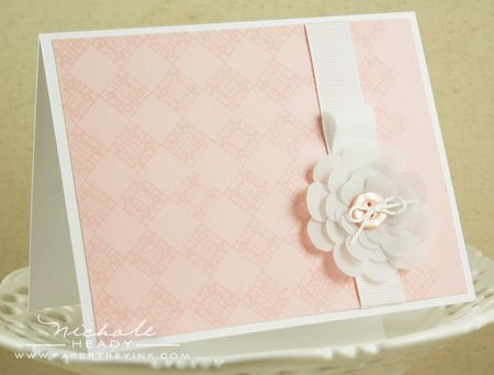 Vellum Flower Card