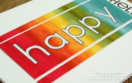 Rainbow happy closeup