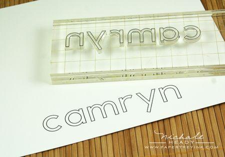 Camryn stamped