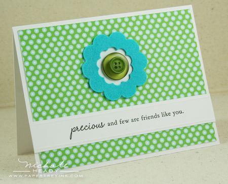 Scalloped flower card