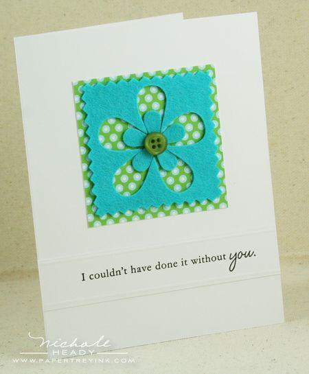 Double flower card