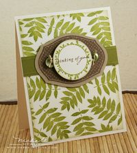 Leaf thinking of you card