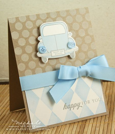 Blue Baby on Board card