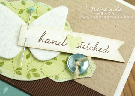 Hand stitched closeup