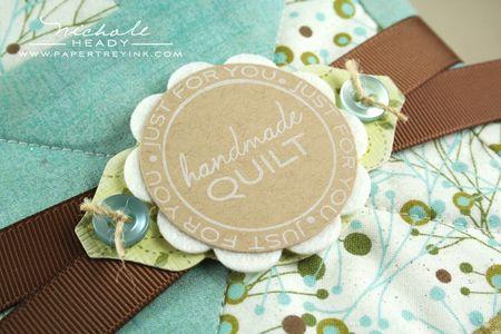 Quilt label closeup