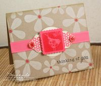 Thinking of You card straight