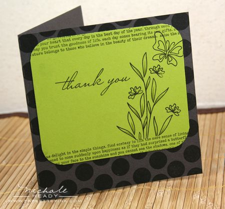 Green Thank You Card