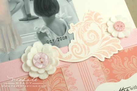 Flourish & flower closeup