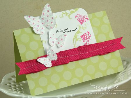 Hello Friends Butterfly Card