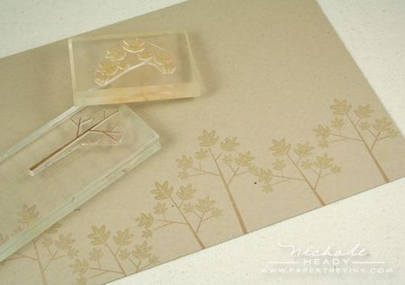 Stamping tree border