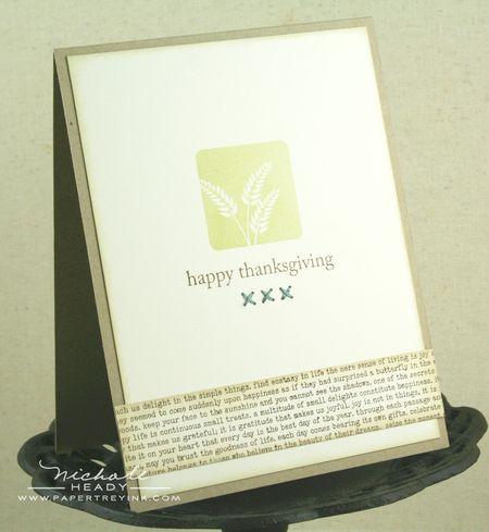 Wheat thanksgiving card