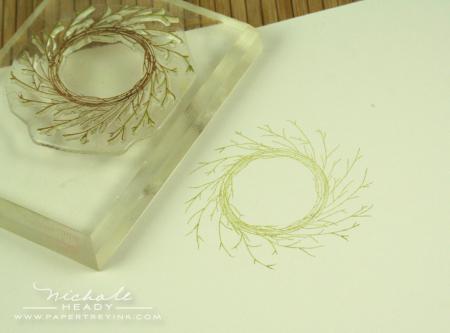 Adding wreath