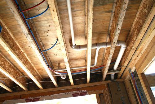 Plumbing in ceiling