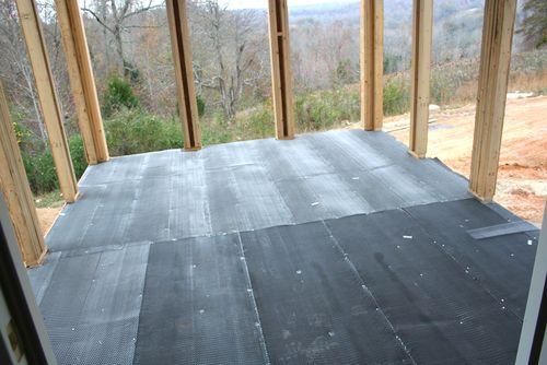 Screnn porch floor