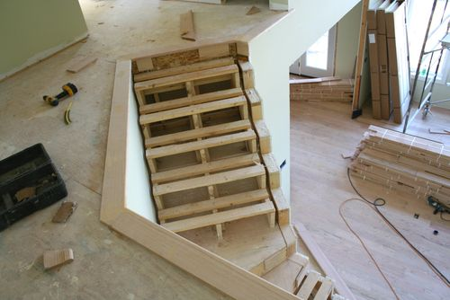Top of stair trim