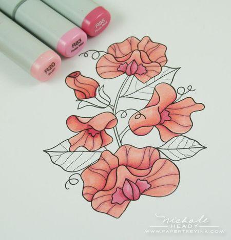 Sweet peas in pink