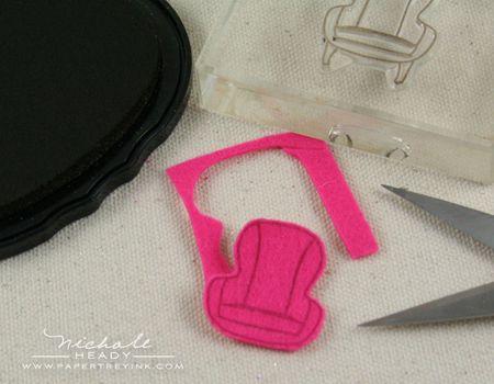 Cutting felt chair