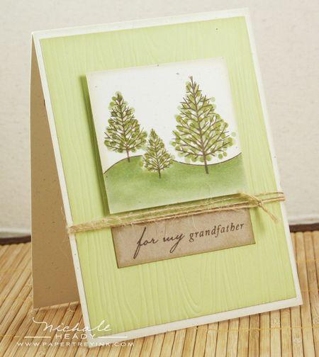 Green tree card