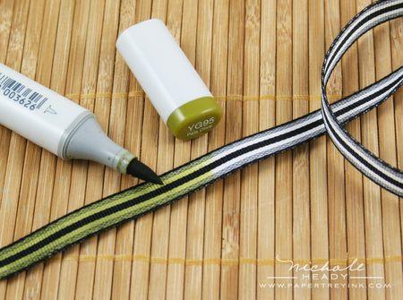 Coloring ribbon