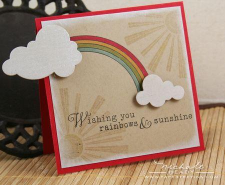 Rainbow & sunshine card
