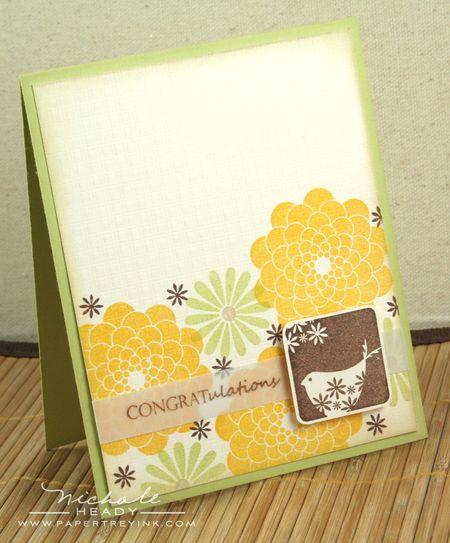 Birdie Congrats card