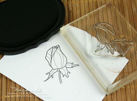 Stamping rosebud