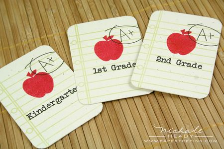 Stamped grade cards