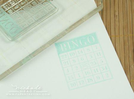 Stamping bingo card