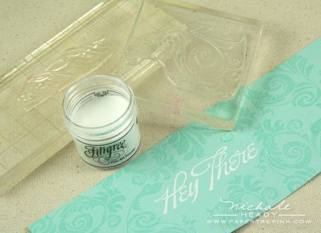 1 embossing hey there