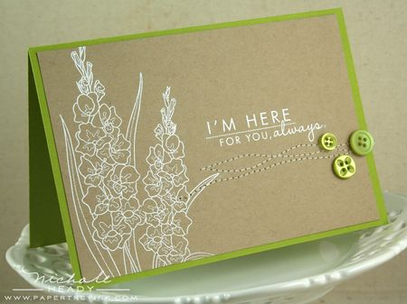Green Here For You Card